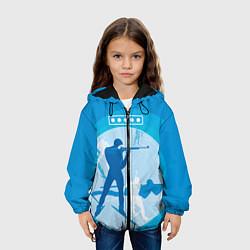 Куртка с капюшоном детская Биатлон цвета 3D-черный — фото 2