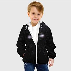 Детская 3D-куртка с капюшоном с принтом Audi, цвет: 3D-белый, артикул: 10075414405458 — фото 2