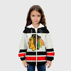Куртка с капюшоном детская Chicago Blackhawks цвета 3D-белый — фото 2