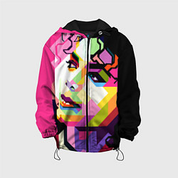 Куртка с капюшоном детская Michael Jackson Art цвета 3D-черный — фото 1