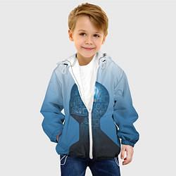 Детская 3D-куртка с капюшоном с принтом Умный студент, цвет: 3D-белый, артикул: 10081506205458 — фото 2