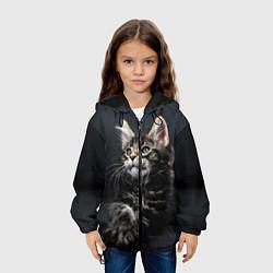 Куртка с капюшоном детская Кошечка цвета 3D-черный — фото 2