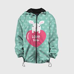 Куртка с капюшоном детская Rabbit: Love you цвета 3D-черный — фото 1