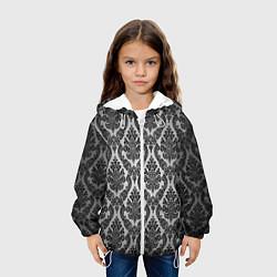 Куртка с капюшоном детская Гламурный узор цвета 3D-белый — фото 2
