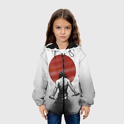 Детская 3D-куртка с капюшоном с принтом Ярость самурая, цвет: 3D-черный, артикул: 10083892105458 — фото 2