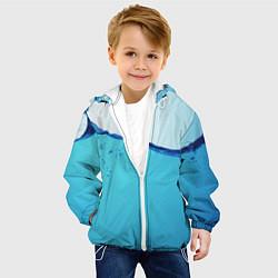 Куртка с капюшоном детская Вода цвета 3D-белый — фото 2