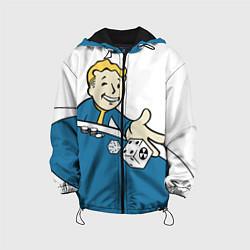 Детская 3D-куртка с капюшоном с принтом Fallout Casino, цвет: 3D-черный, артикул: 10086233305458 — фото 1