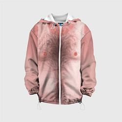 Куртка с капюшоном детская Загорелый торс цвета 3D-белый — фото 1