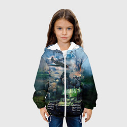 Куртка с капюшоном детская За родину цвета 3D-белый — фото 2