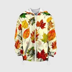 Куртка с капюшоном детская Осень цвета 3D-белый — фото 1