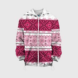 Куртка с капюшоном детская Вышивка 34 цвета 3D-белый — фото 1