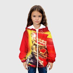 Детская 3D-куртка с капюшоном с принтом СССР рабочие, цвет: 3D-белый, артикул: 10095441805458 — фото 2