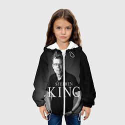 Куртка с капюшоном детская Стивен Кинг цвета 3D-белый — фото 2