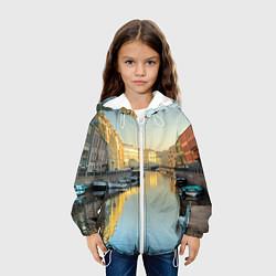Детская 3D-куртка с капюшоном с принтом Питер, цвет: 3D-белый, артикул: 10095925405458 — фото 2