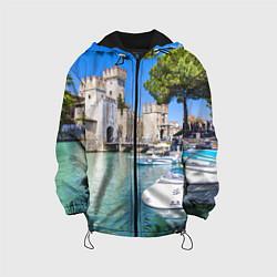 Куртка с капюшоном детская Италия цвета 3D-черный — фото 1