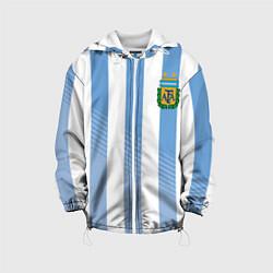 Куртка с капюшоном детская Сборная Аргентины: ЧМ-2018 цвета 3D-белый — фото 1