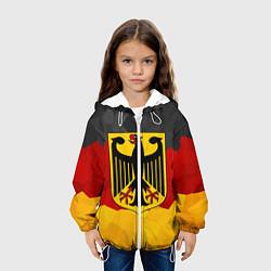 Куртка с капюшоном детская Германия: герб цвета 3D-белый — фото 2