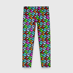 Леггинсы для девочки AMONG US цвета 3D-принт — фото 1