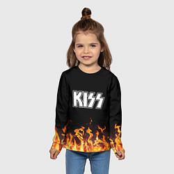 Лонгслив детский Kiss: Hell Flame цвета 3D — фото 2
