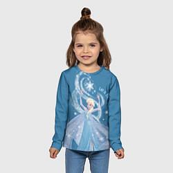 Лонгслив детский Принцесса Эльза цвета 3D — фото 2