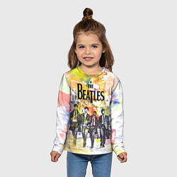 Лонгслив детский The Beatles: Colour Spray цвета 3D-принт — фото 2