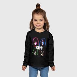 Лонгслив детский KISS: Acid Colours цвета 3D — фото 2