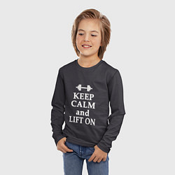 Лонгслив детский Keep Calm & Lift On цвета 3D — фото 2