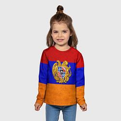 Лонгслив детский Армения цвета 3D — фото 2