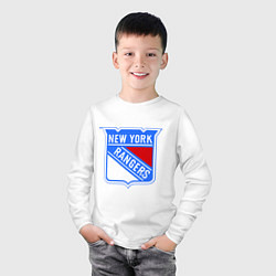 Лонгслив хлопковый детский New York Rangers цвета белый — фото 2