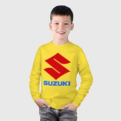Лонгслив хлопковый детский Suzuki цвета желтый — фото 2