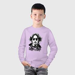 Лонгслив хлопковый детский Dream is over цвета лаванда — фото 2