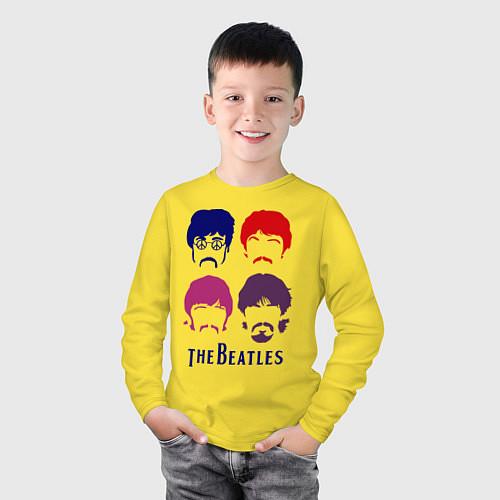 Детский лонгслив The Beatles faces / Желтый – фото 3