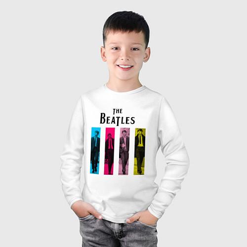 Детский лонгслив Walking Beatles / Белый – фото 3