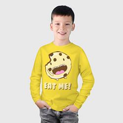Лонгслив хлопковый детский Cake: Eat me! цвета желтый — фото 2