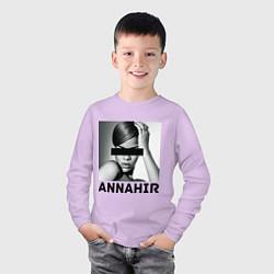 Лонгслив хлопковый детский Rihanna цвета лаванда — фото 2