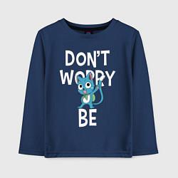 Лонгслив хлопковый детский Dont Worry be Fairy Tail цвета тёмно-синий — фото 1