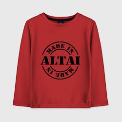 Лонгслив хлопковый детский Made in Altai цвета красный — фото 1