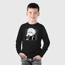Лонгслив хлопковый детский Killua Hunter x Hunter Киллуа цвета черный — фото 2
