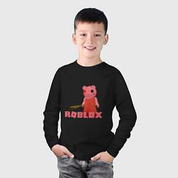 Лонгслив хлопковый детский ROBLOX: PIGGI цвета черный — фото 2