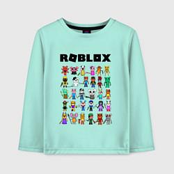 Лонгслив хлопковый детский ROBLOX PIGGY цвета мятный — фото 1