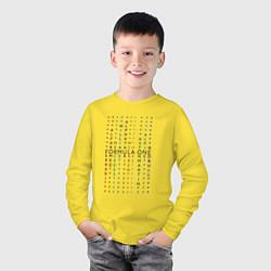 Лонгслив хлопковый детский Команды Формулы 1 цвета желтый — фото 2