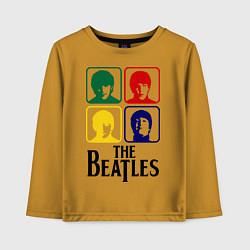 Лонгслив хлопковый детский The Beatles: Colors цвета горчичный — фото 1