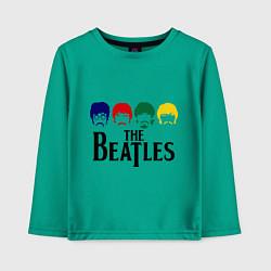 Лонгслив хлопковый детский The Beatles Heads цвета зеленый — фото 1