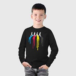 Лонгслив хлопковый детский Abbey Road Colors цвета черный — фото 2