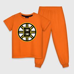 Пижама хлопковая детская Boston Bruins цвета оранжевый — фото 1