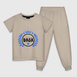Пижама хлопковая детская Daga цвета миндальный — фото 1