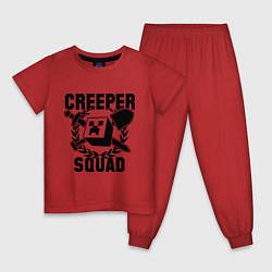 Пижама хлопковая детская Creeper Squad цвета красный — фото 1