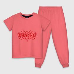 Пижама хлопковая детская Katatonia цвета коралловый — фото 1