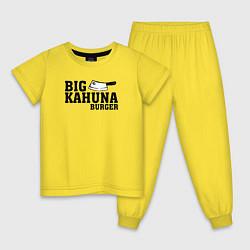 Пижама хлопковая детская Big Kahuna Burger цвета желтый — фото 1