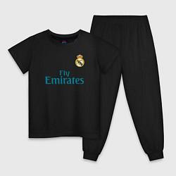 Пижама хлопковая детская Real Madrid: Ronaldo 07 цвета черный — фото 1
